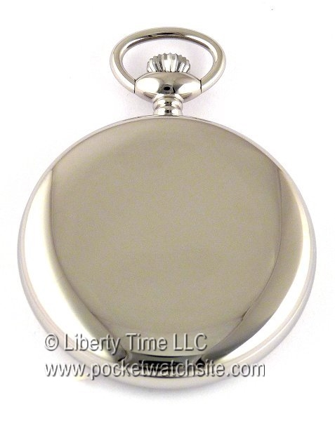 """01b935a1d Dueber Watch Co Heirloom Quality Pocket Watch with Swiss Made Mechanical  Movement """"Special Railway"""" 24 Hour Montgomery Style Railroad Dial Chrome  Plated ..."""