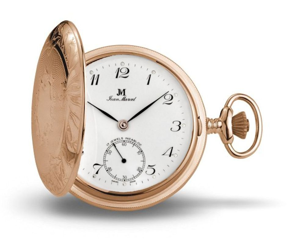Jean Marcel Rose Gold Plated Pocket Watch