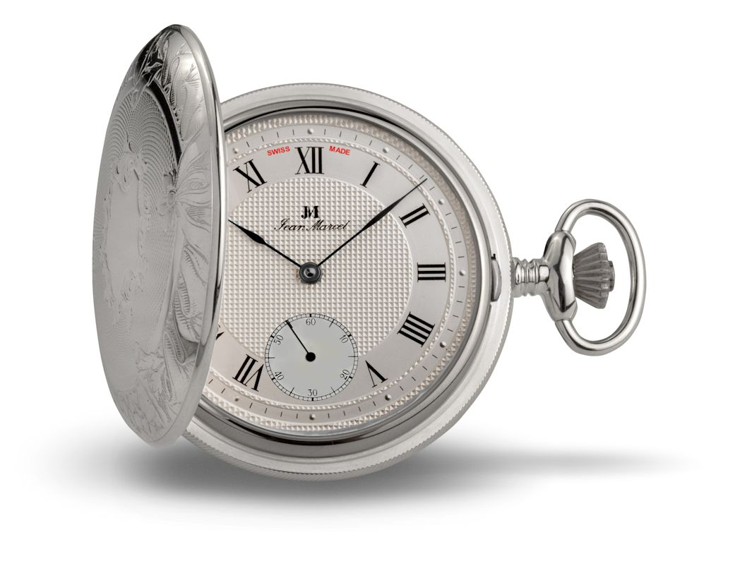 Jean Marcel Sterling Silver Pocket Watch 680.021.56