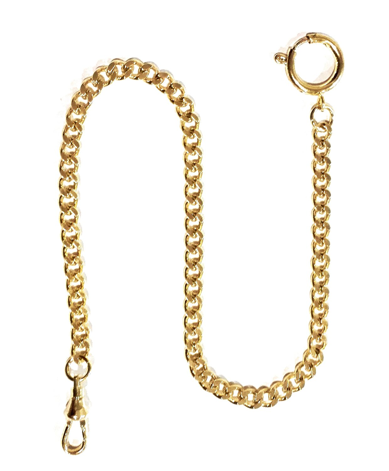 Gold Plated Steel Pocket Watch Chain
