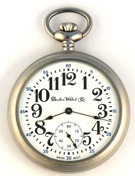 Dueber Swiss Made Pocket Watch